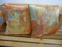 Úžitkový textil - Žinylkové vankúše s nádychom pomaranča - 5943874_