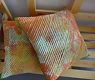 Úžitkový textil - Žinylkové vankúše s nádychom pomaranča - 5943875_