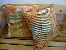 Úžitkový textil - Žinylkové vankúše s nádychom pomaranča - 5943876_
