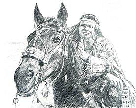 Kresby - Winnetou a jeho verný kôň Hatatitla... - 5945402_