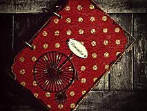 Papiernictvo - Červená retro bodka-Diár 2021 - 5946125_