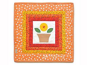Úžitkový textil - Obliečka na vankúš Slniečko v kvetináči - 5946424_