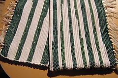 Úžitkový textil - Tkané obliečky na vankúše zeleno-biele - 5947514_