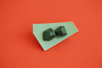 Náušnice - Geometrické náušnice | minimal arch | army green - 5948142_