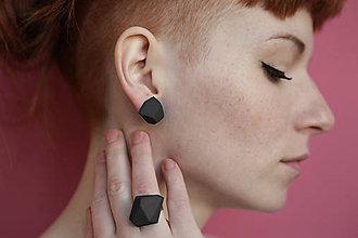 Náušnice - Geometrické náušnice | minimal arch | black - 5948155_