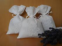 Úžitkový textil - Levanduľové vrecúško s vločkou - 5949071_
