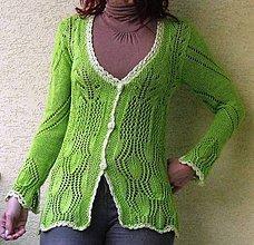 Svetre/Pulóvre - Akcia-sveter,zelená je tráva.... - 5951534_