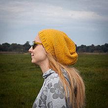 Čiapky - Horčicová čiapka - 5951357_