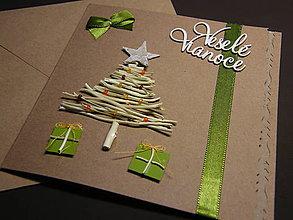 Papiernictvo - Vianočná pohľadnica_ Zelené Vianoce - 5952594_