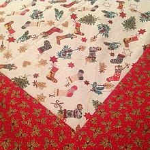 Úžitkový textil - Vianočný obrus - Vianočné čižmičky II - - 5951964_