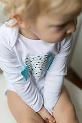 Detské oblečenie - body RYBKA Z TYRKYSOVÉHO JAZERA (dlhý/krátky rukáv) - 5952544_