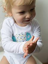 Detské oblečenie - body RYBKA Z TYRKYSOVÉHO JAZERA (dlhý/krátky rukáv) - 5952546_