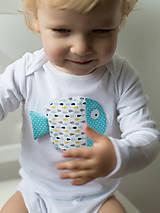 Detské oblečenie - body RYBKA Z TYRKYSOVÉHO JAZERA (dlhý/krátky rukáv) - 5952547_
