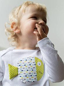 Detské oblečenie - body RYBKA ZO ZELENÉHO JAZERA (dlhý/krátky rukáv) - 5952475_