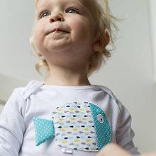 Detské oblečenie - body RYBKA Z TYRKYSOVÉHO JAZERA (dlhý/krátky rukáv) - 5952545_