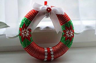 Dekorácie - Vianočný veniec I. - 5948778_