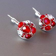 Náušnice - Náušničky RED ROSES - 5948706_