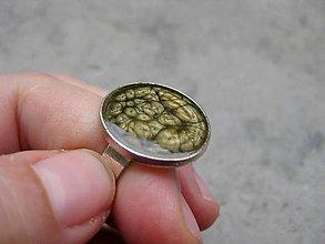 Prstene - Prsteň väčší guľatý (Béžovohnedý prsteň č.1462 - Akcia) - 5949208_