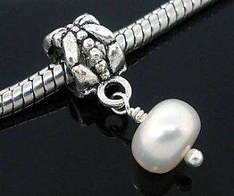 Korálky - Pandorková korálka s riečnou perlou - 5948449_