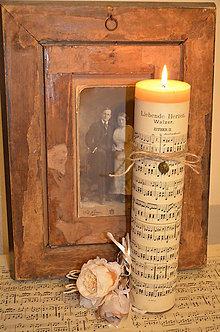 Svietidlá a sviečky - Maxi notová sviečka - 5953559_