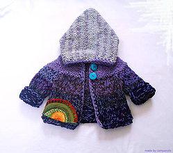 Detské oblečenie - Fialový svetroško pre trpaslíka - 5954708_