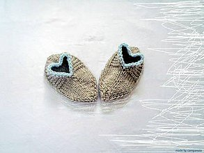 Topánočky - Hrejivky pre vaše malé srdiečka pastelové - 5954953_