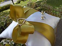 Prstene - svadobný vankúšik pod obrúčky - 5953329_