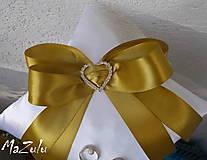 Prstene - svadobný vankúšik pod obrúčky - 5953332_