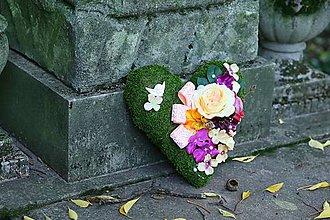 Dekorácie - Chýbaš nám... (srdce na Dušičky) - 5954500_