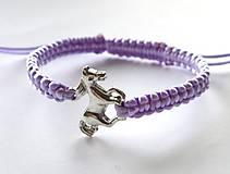 - Náramok s koníkom - fialová svetlá - 5953972_