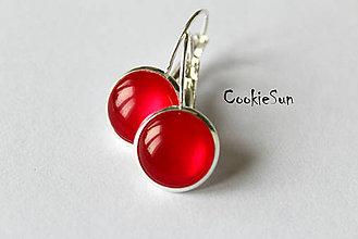 Náušnice - Glamour Red (Náušnice 12mm) - 5954517_
