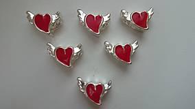 Korálky - Pandorková korálka srdiečko s krídlami - 5955262_