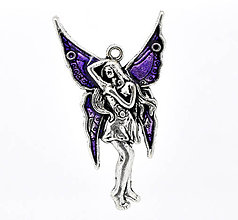 Komponenty - Veľký prívesok anjelik - víla - 5955334_