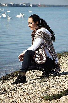 Iné oblečenie - Pončo s kapucňou z alpaky - 5954931_