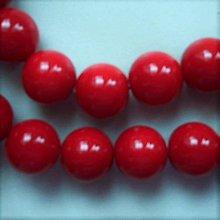Korálky - Sklenené 10mm-červená-1ks - 5957994_