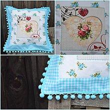 Úžitkový textil - Obliečka na vankúšik v tyrkysovom - 5960577_