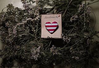 Odznaky/Brošne - ♥ ružové námornícke - 5960294_
