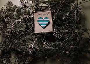 Odznaky/Brošne - ♥ námornícke zelené - 5960336_