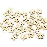 - Drevené gombíčky hviezdičky malé (balíček 10ks) - 5956814_