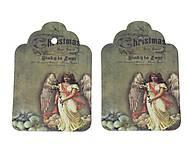 - Vintage vianočná mini etiketa - 5959487_