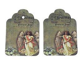 Papier - Vintage vianočná mini etiketa - 5959487_