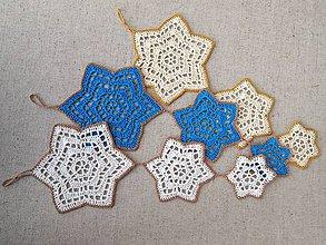 Dekorácie - Vianočná závesná dekorácia s 3 hviezdičkami - 5956498_