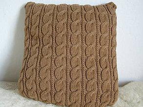 Úžitkový textil - pletený vankúš - bez žmolkov - 5961654_