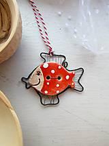 Dekorácie - Usmievavá rybka pre šťastie - 5960321_