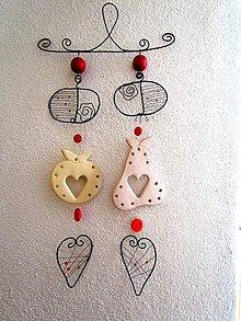 Dekorácie - jablká a hrušky - na stenu - 5956585_