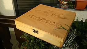 Krabičky - Darčeková krabica ( na mieru) Drewomil - 5964612_