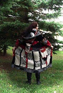 Svetre/Pulóvre - lel hrubý korky patchwork sveter - 5966454_