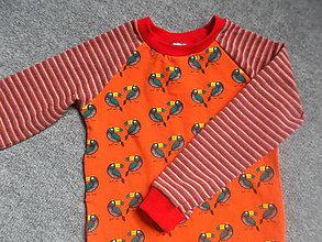 Detské oblečenie - tričko papagáj - 5961977_