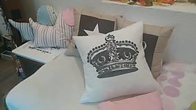 - Obliečka s korunou pana kráľa + vankúšik - 5963130_
