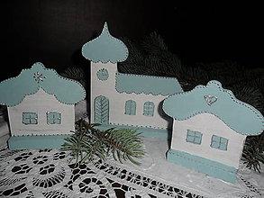 Dekorácie - Dedinka v modrom. - 5962941_